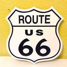 Tin ROUTE 66 Custom Aluminum Name Plate Emboss Cangnan Road Traffic Sign With Name