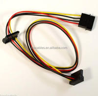 4 Pin IDE Molex to dual SATA 15pin Female Power Cable