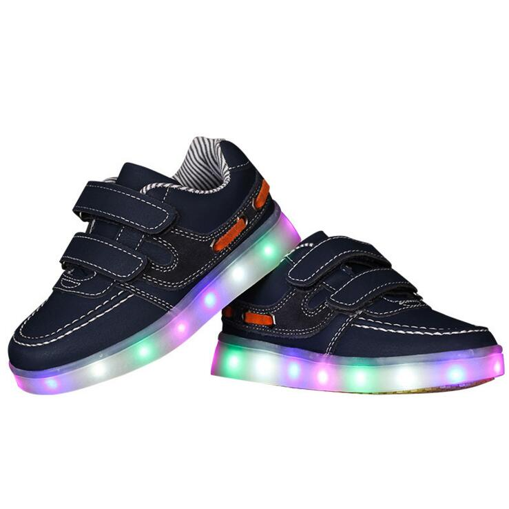 2016 sell children USB charging & sneakers girl Baby Led children Shoes & kids Shoes Led Enfant size 10 11 11.5 12.5 13.5 1 1.5
