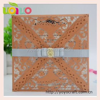romantic wedding invitation card laser cut puberty ceremony invitation cards tombstone unveiling invitation wedding cards