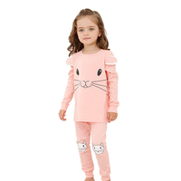 Girl Home Wearing Audel Cotton Cool Children Sleepwear Pyjamas Wholesale