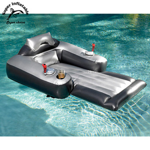 Electric Water Inflatable Floating Lounger Pool Motorized Lounge Chair With Motor Pool Toy for Adults