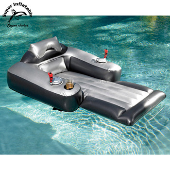 Electric Water Inflatable Floating Lounger Pool Motorized