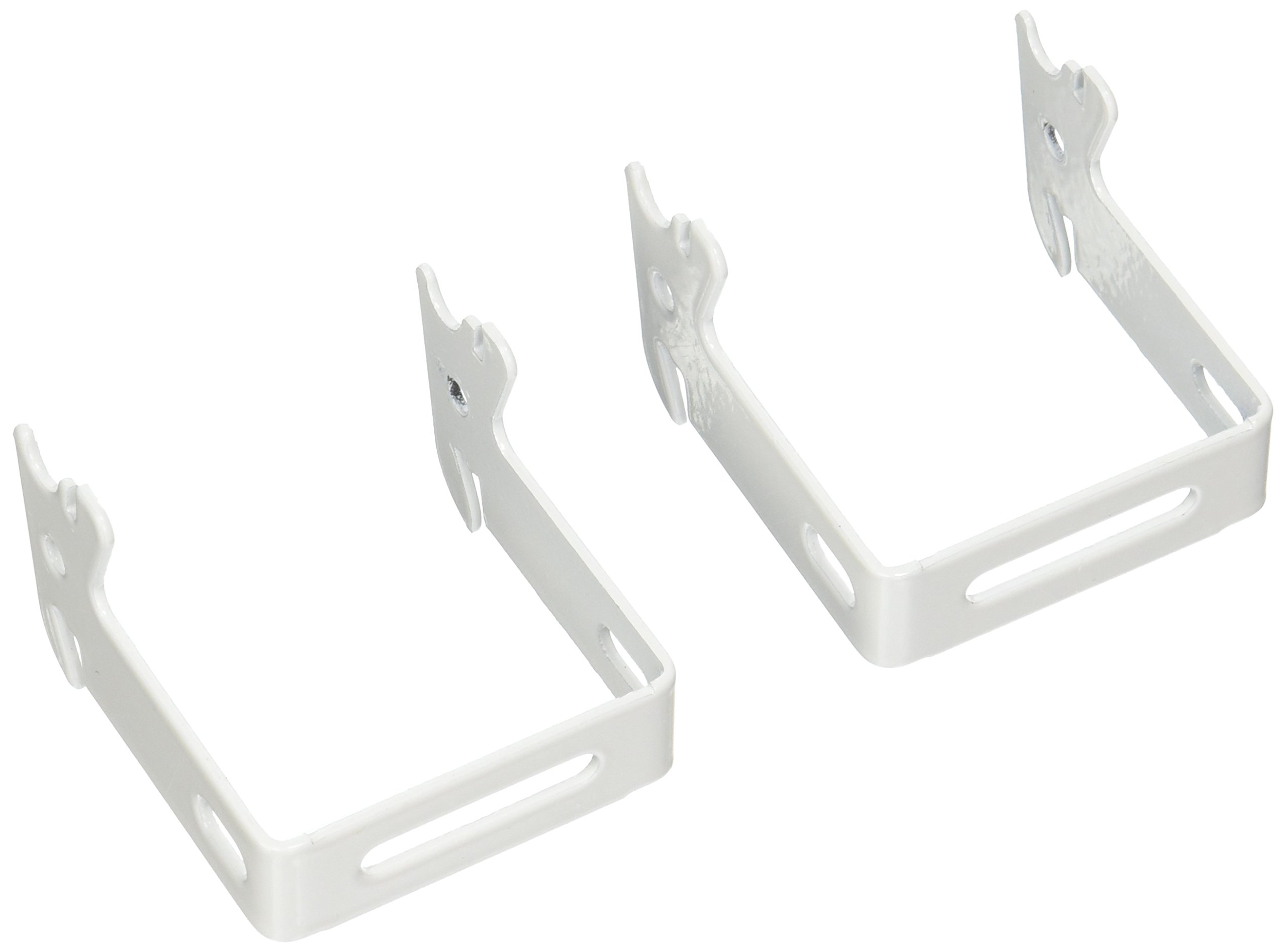 "Wall Control 10-CB-022 W C-Bracket Slotted Metal Pegboard Hook for Wall Control Pegboard Only, 2"" x 2"", White"