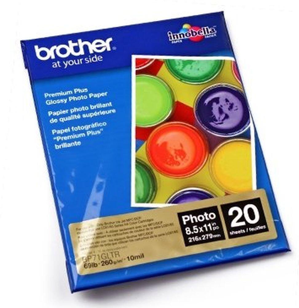 Brother BP71GLTR Premium Plus - Glossy photo paper - Letter A Size (8.5 in x 11 in) - 20 sheet(s) - for DCP J152, MFC J245, J285, J450, J4510, J4610, J470, J4710, J650, J6520, J6720, J6920