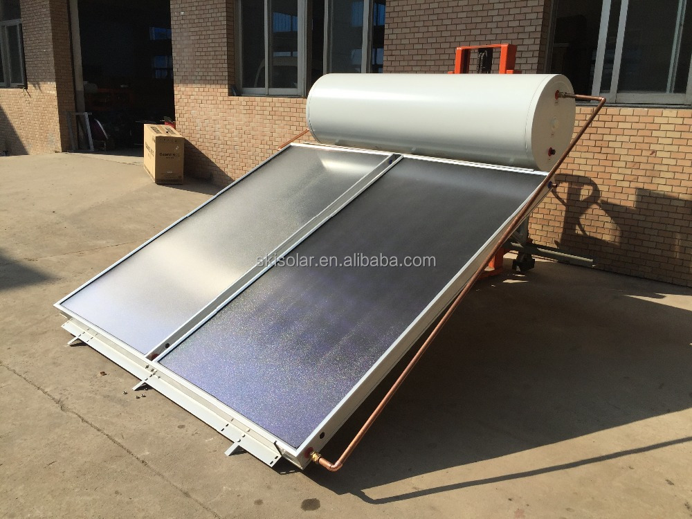 flat plate non-pressure solar water heater with coil copper