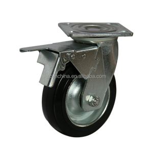 manufacturer competitive trolley steel core original material rubber caster