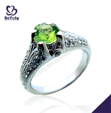 smart gemstone silver bridal green lantern wedding ring - Green Lantern Wedding Ring