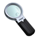 Plastic 3x magnification 65mm folding LED magnifier