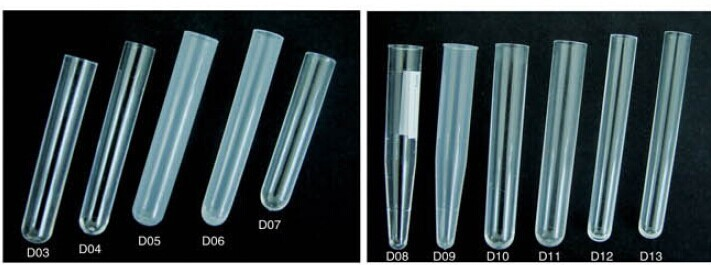 PS Plastic and Glass Test Tube with Stopper for Pakistan Market