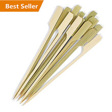 10 inch Bamboo Skewer, BBQ Skewers Set of 50, Kebab Skewer
