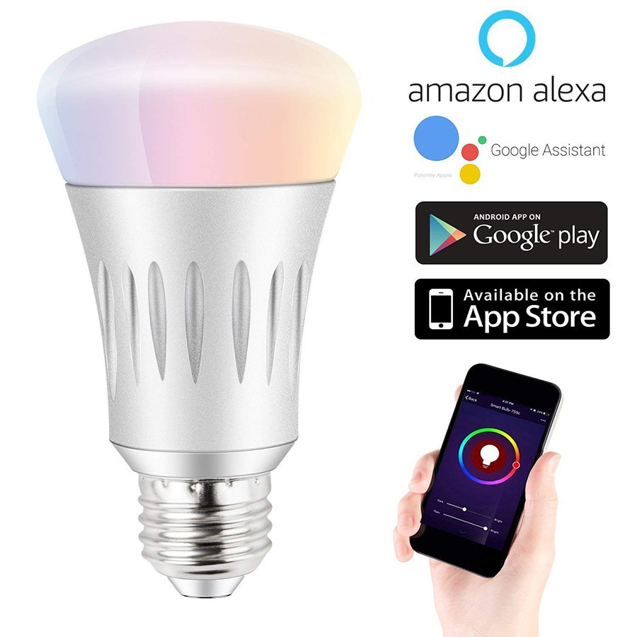 Led Lamp E27 Wifi Dimmer 6 W Smart Home App Remote Wireless Control Wit en Kleur Ambiance Lamp Werk Met alexa
