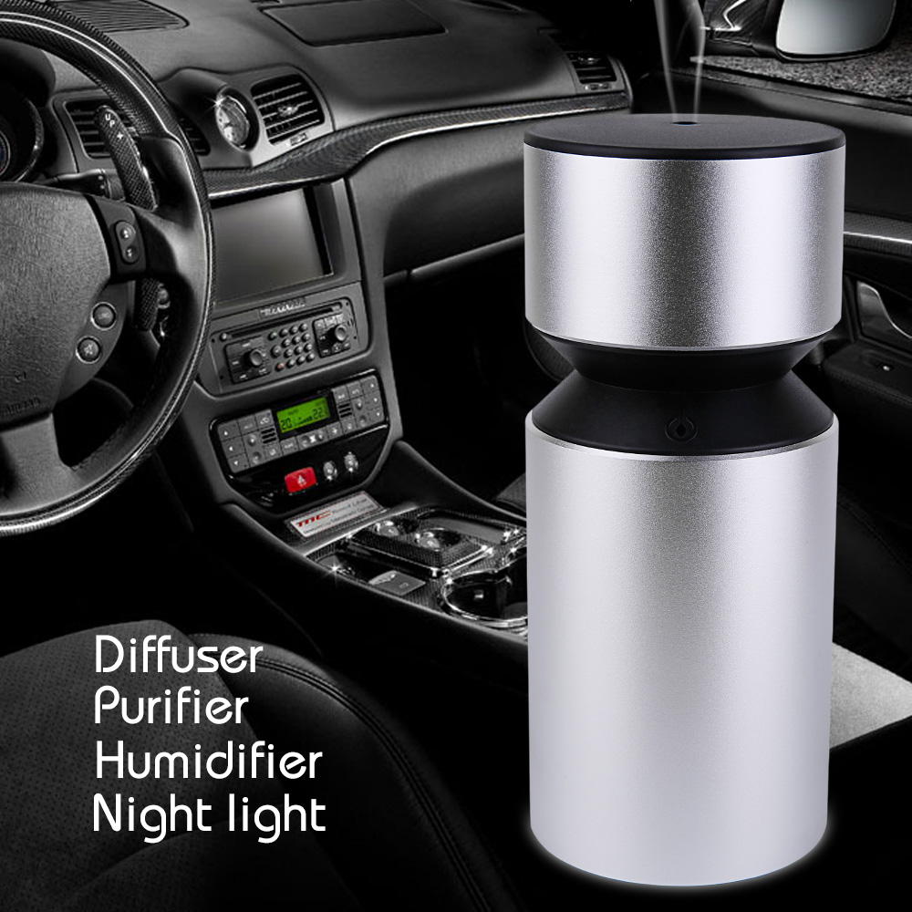 Portable USB Rechargeable Waterless Oil Nebulizer Car Diffuser