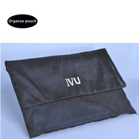 Christmas large custom black organza gift bag for packaging,organza envelop cloth pouch
