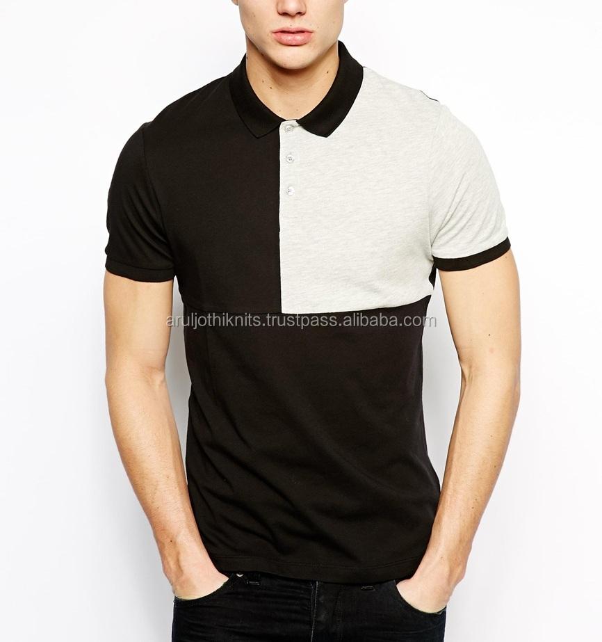 Mens Square Cut & Sew Polo Shirt
