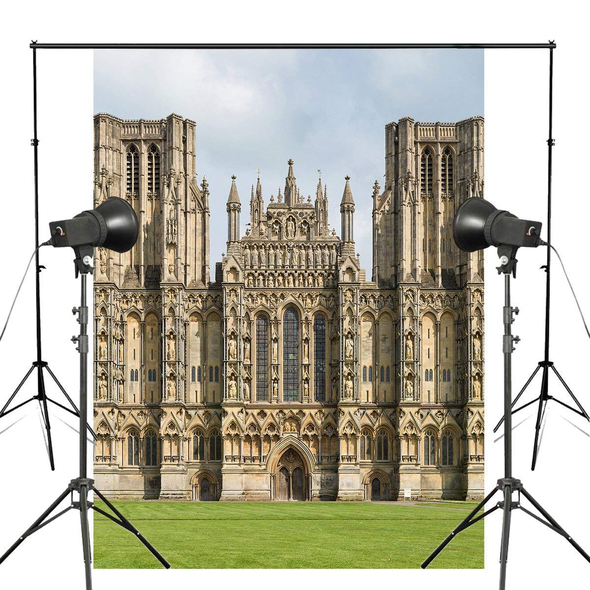 ERTIANANG 150x210cm Wells Cathedral Photo Background London Architecture Backdrop European Theme Photography Studio Background