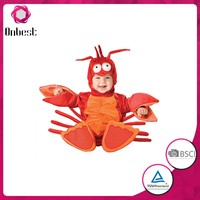 Supply Cute crab mascot costume cosplay red crab animal costume for kids