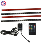 USB18SMD 5050 5V RGB Remote and Music Sound control Car interior Atmosphere Ambient strip light