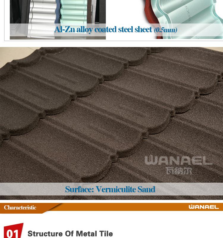 Wanael Bond 1340x420mm Sand Coated Steel Roofing Materials