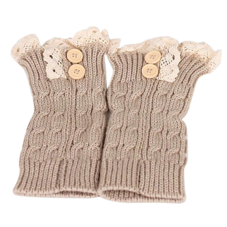 Gillberry Women Socks, Womens Lace Stretch Boot Leg Cuffs Leg Warmers Socks Topper Cuff Socks