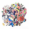 200PCS Stickers Mix Style funny adult Cartoon Decal Fridge Doodle Snowboard Luggage Decor Brand Car Bike