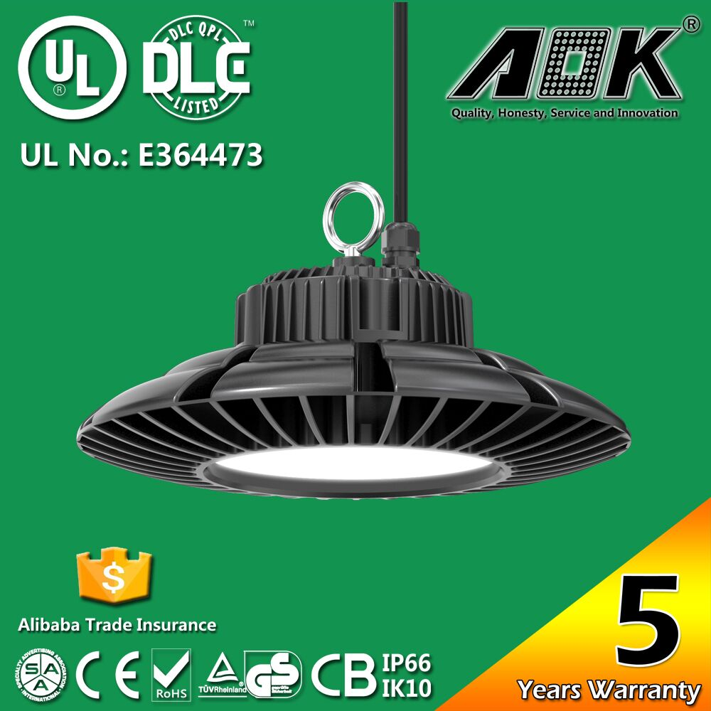 UL DLC SAA listed LED UFO High Bay Light 400W MH/HPS Replacement Lamp with 5 years warranty