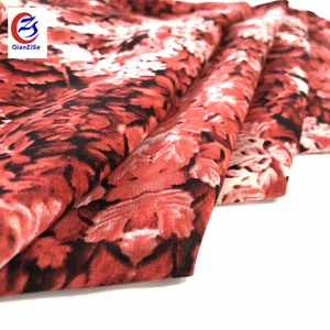 Hot selling item fancy textile material fabric colorful floral chiffon for India kurti