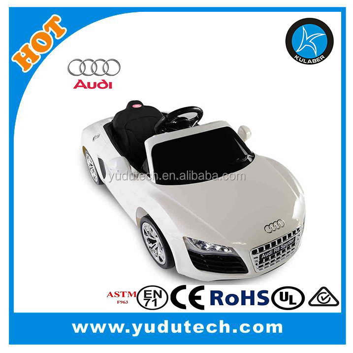 New lisenced Audi R8 Spyder remote control baby electric car,kids battery powered Mp3 2.4G bluetooth remote control ride on cars