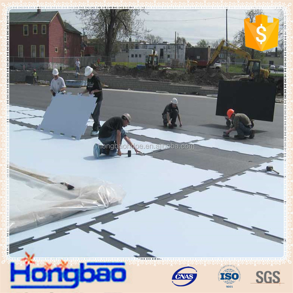 customized uhmwpe synthetic ice hockey roller skating rink