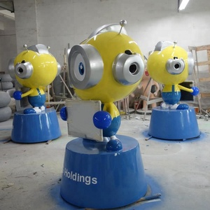 fiberglass custom designs cartoon mascot for holiday decoration