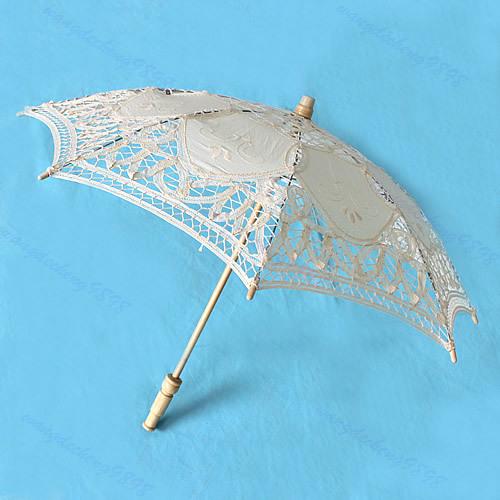 Бесплатная доставка 30 см кружевной зонтик зонтик вышивать для новобрачных свадьба украсить