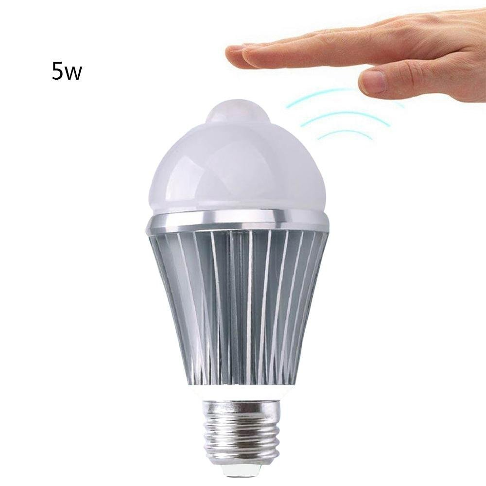 niceEshop(TM) Motion Light Bulb, E27 5W LED Infrared Motion Detection Light Sensor PIR Warm White Light Bulb Lamp Auto Switch Night Light for Hallway Stairs Closet Basement Pantry Porch Garage