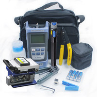 Fiber Optic FTTH Tool Kit with FC-6S Fiber Cleaver and Optical Power Meter/Visual Fault Locator/Wire stripper