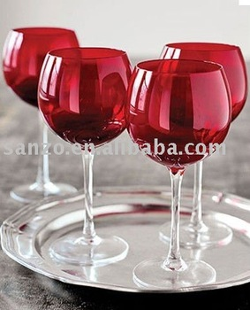 Red Coloured Wine Glass Buy Red Coloured Wine Glass