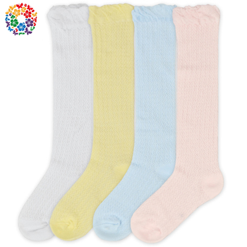 Wholesale Cheap Long Solid Color Baby Socks Warm Winter Cartoon Tube