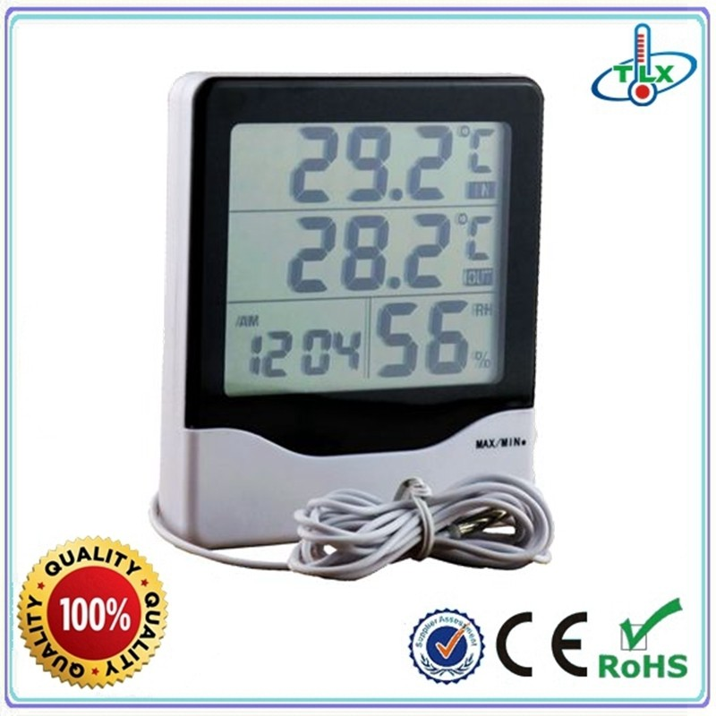 TL8020 Digital in/out thermometer clock with hygrometer function