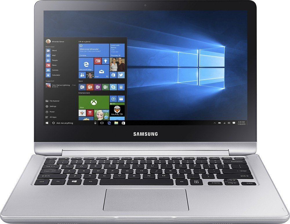 "Newest Samsung Notebook 7 Spin 2-in-1 13.3"" Touchscreen FHD Laptop Computer (Intel Dual Core i5-6200U 2.3Ghz, 8GB RAM, 1TB HDD, HDMI, Backlit Keyboard, Bluetooth, 802.11ac, USB Type C, Windows 10)"