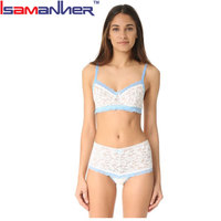 Imported stylish white sexy lace teen girls bra and panty models