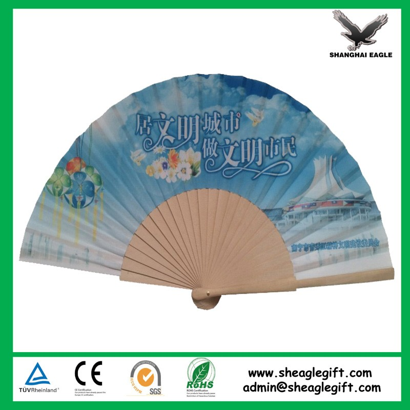 High quality Painted Wood Craft Hand Fan