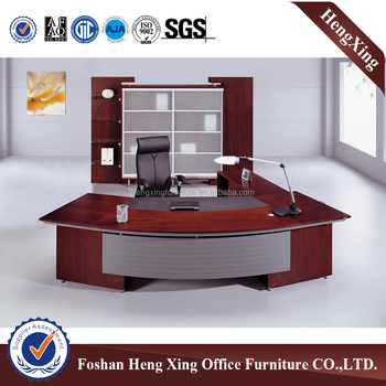 Wholesale Solid wood office furniture veneer boss deskexecutive