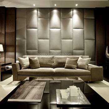 5 Star Hotel Decorative Leather Wrap Custom Acoustical Wall Panels ...