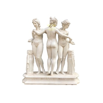 Western Style Stone Carved Products Marble The Graces Statue