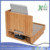 Corner Multi-Device organizer Bamboo wooden Charging Station with Drawer