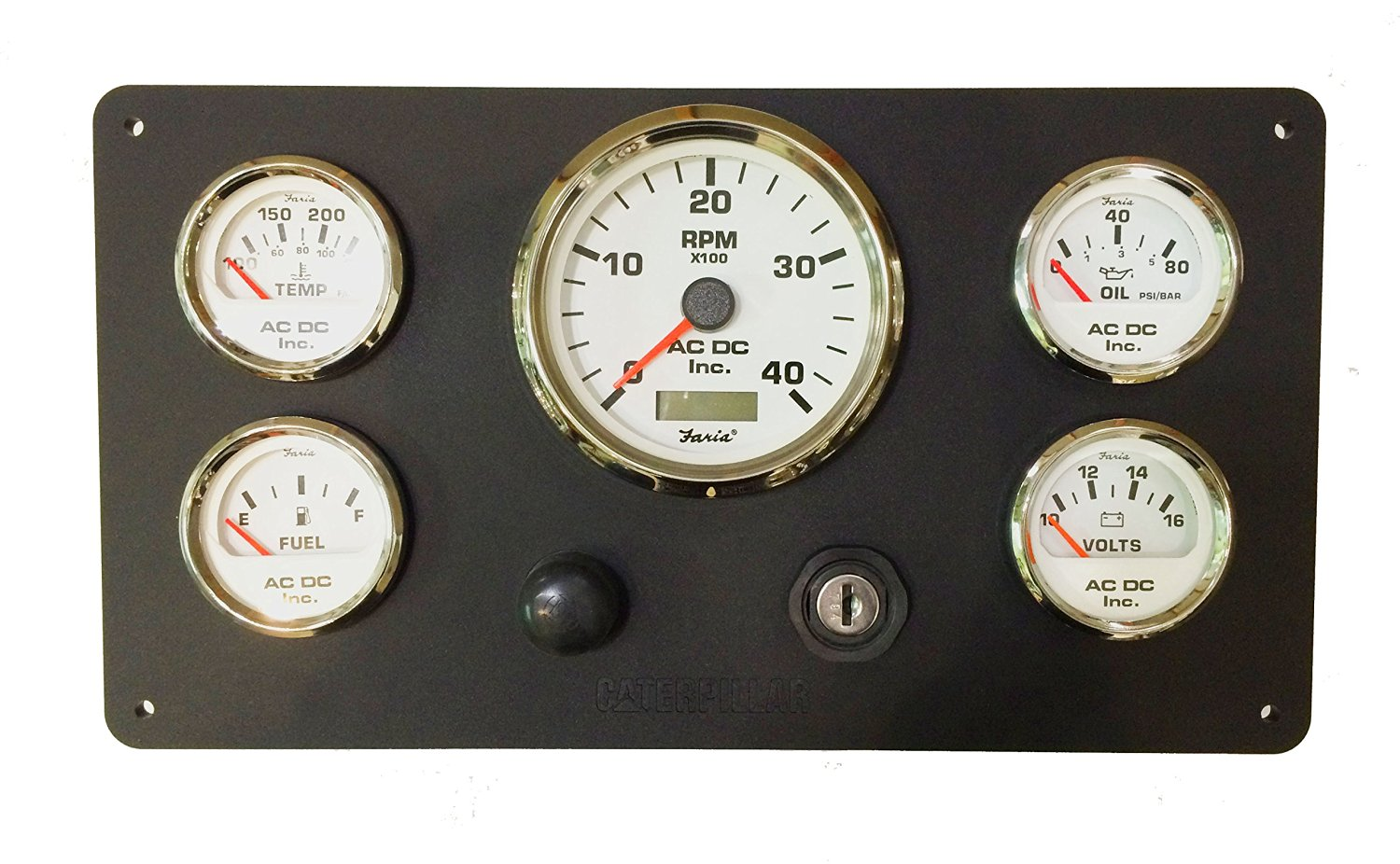 Buy Caterpillar Cat Marine Instruments Panel With Wiring Harness Faria Tachometer Pigtail White Gauges