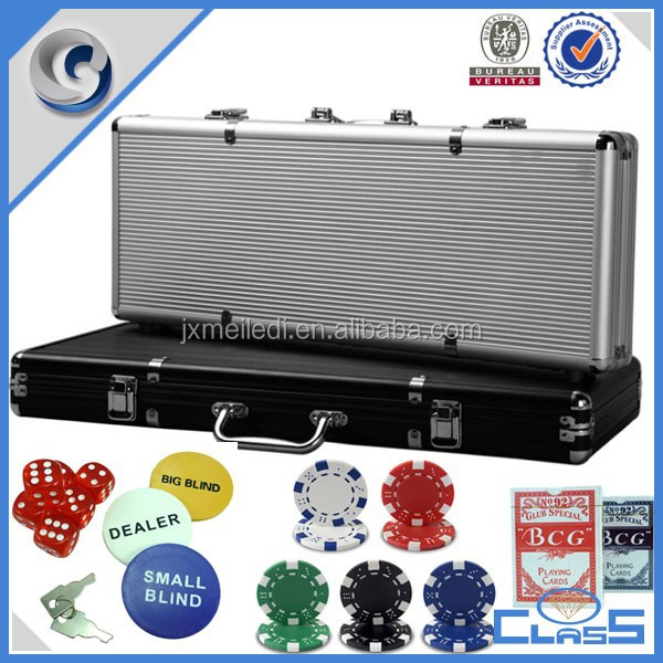 CQ casino style texas holdem poker set 500