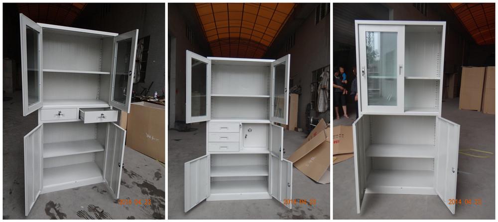 Dove Gray Powder Small Lockable Closet Hidden Compartment Footlocker Cabinet