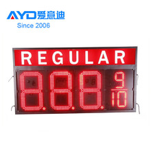 Alibaba Factory Direct LED Digital Light Combination Gas Station Price Screen/ Red 12'' LED Gas Price Sign