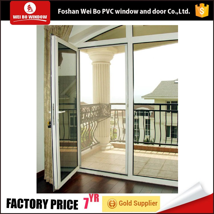 lamination door external profile pvc double insulated casement glass door