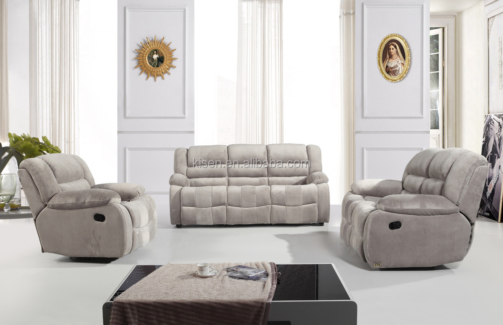 Living Room Furniture Modern Corner Recliner Sofa Alcantara Fabric