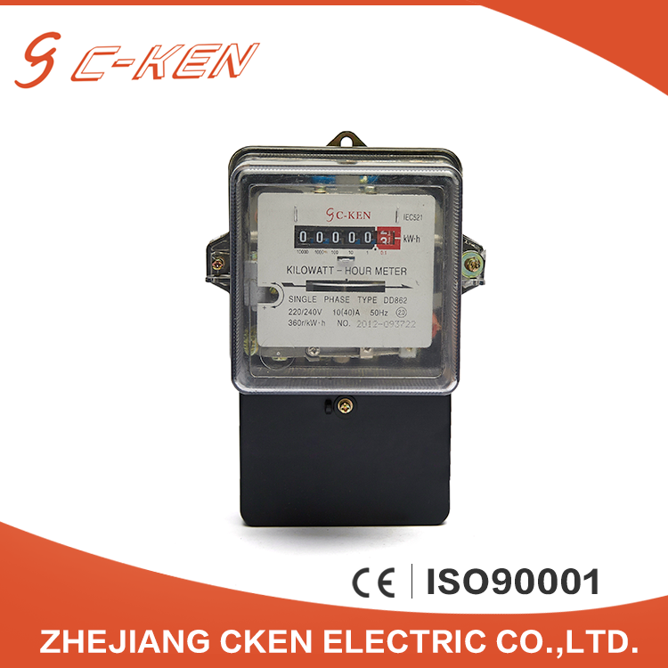 China Suppliers Counter Display Single Phase Smart Power Mechanical Induction Meter 220v Kwh